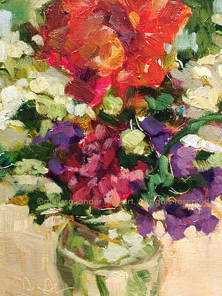 """Artful Bouquet"" original fine art by Melissa Jander"