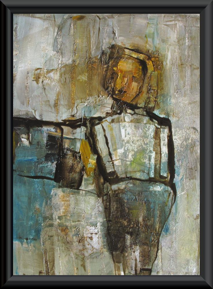 """IN the SPOTLIGHT - ABSTRACT Figure Expressionism"" original fine art by Colette Davis"