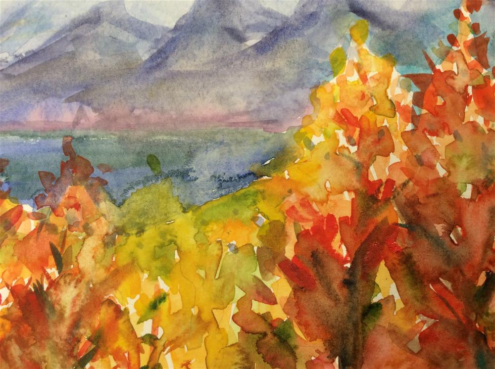 """Fall Sparklers"" original fine art by Molly Rohrscheib Hathaway"