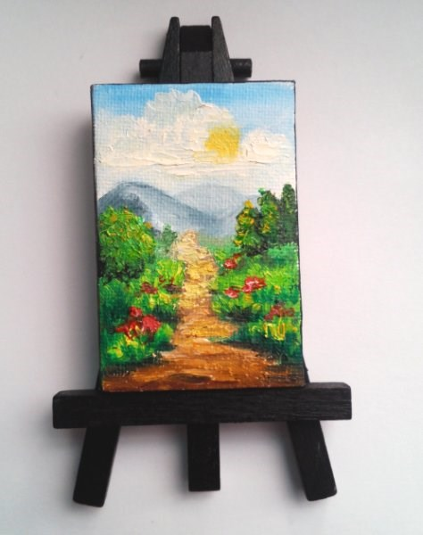 """Summer Landscape"" original fine art by Camille Morgan"