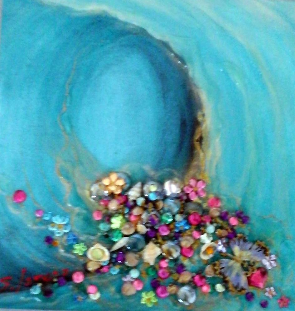 """Wishes Coming True--Prosperity Wave"" original fine art by Sue Lorenz"