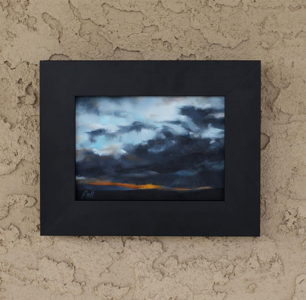 """Sunset Storm (framed)"" original fine art by Pamela Poll"