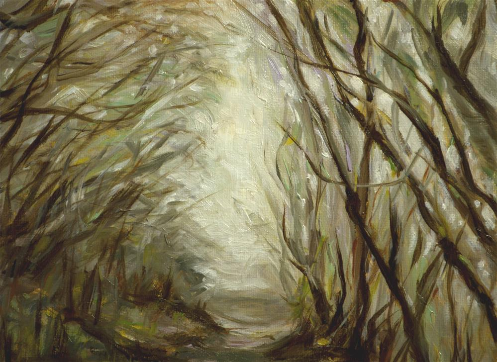"""Misty blue ridge walk a way"" original fine art by Sun Sohovich"