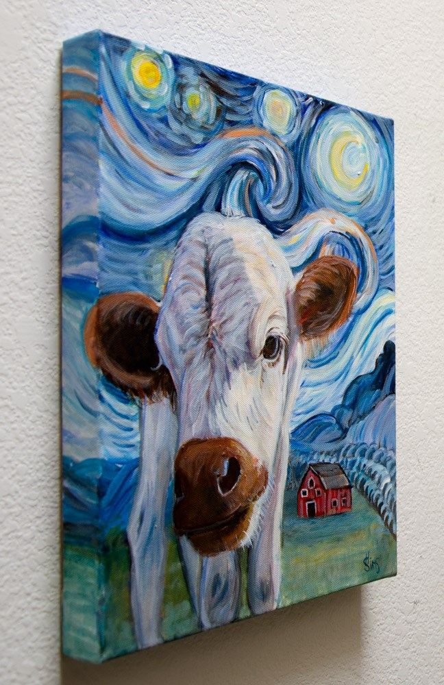 """Chanel's Starry Night"" original fine art by Heather Sims"