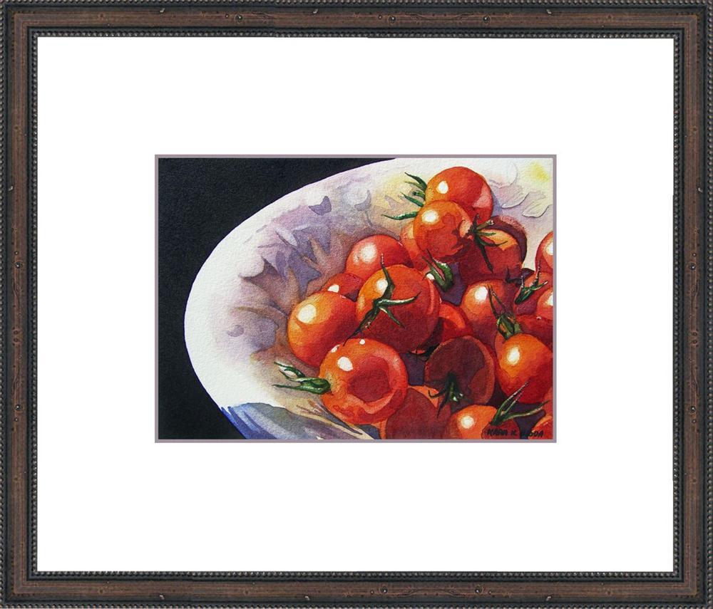 """Cherry Tomatoes"" original fine art by Kara K. Bigda"