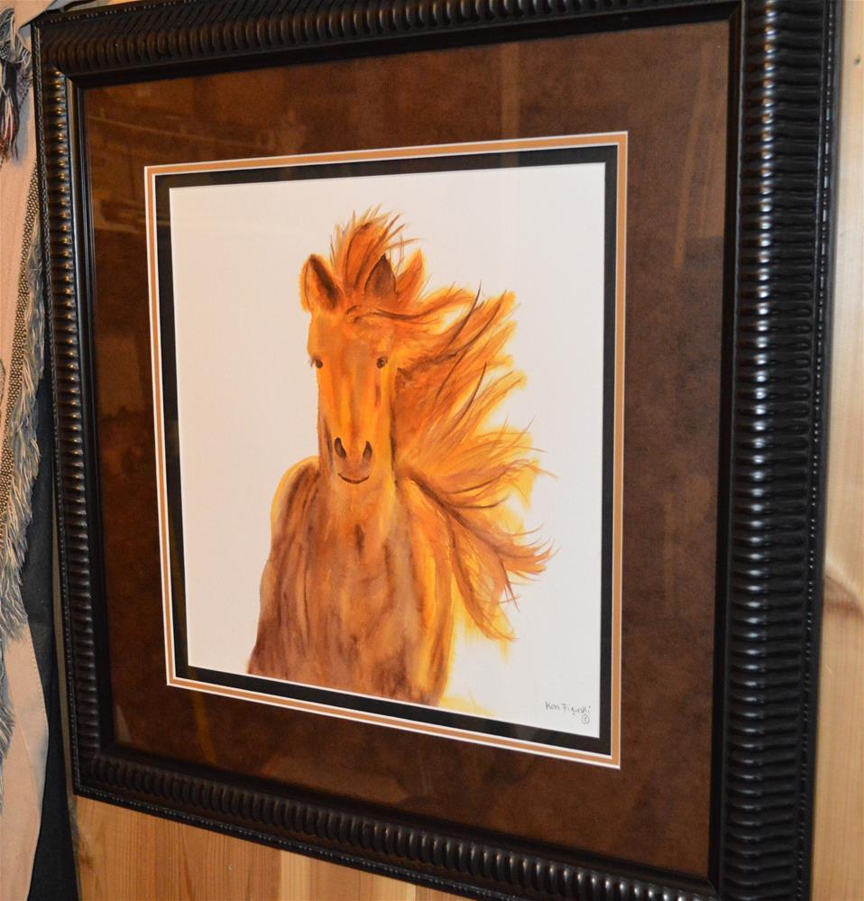"""Mare In Motion"" original fine art by Ken Figurski"