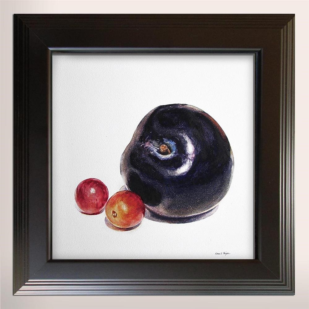 """Plum with Grapes"" original fine art by Kara K. Bigda"