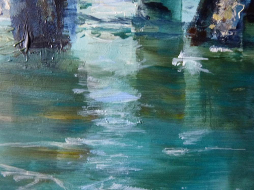 """Pilings"" original fine art by Judith Elder"