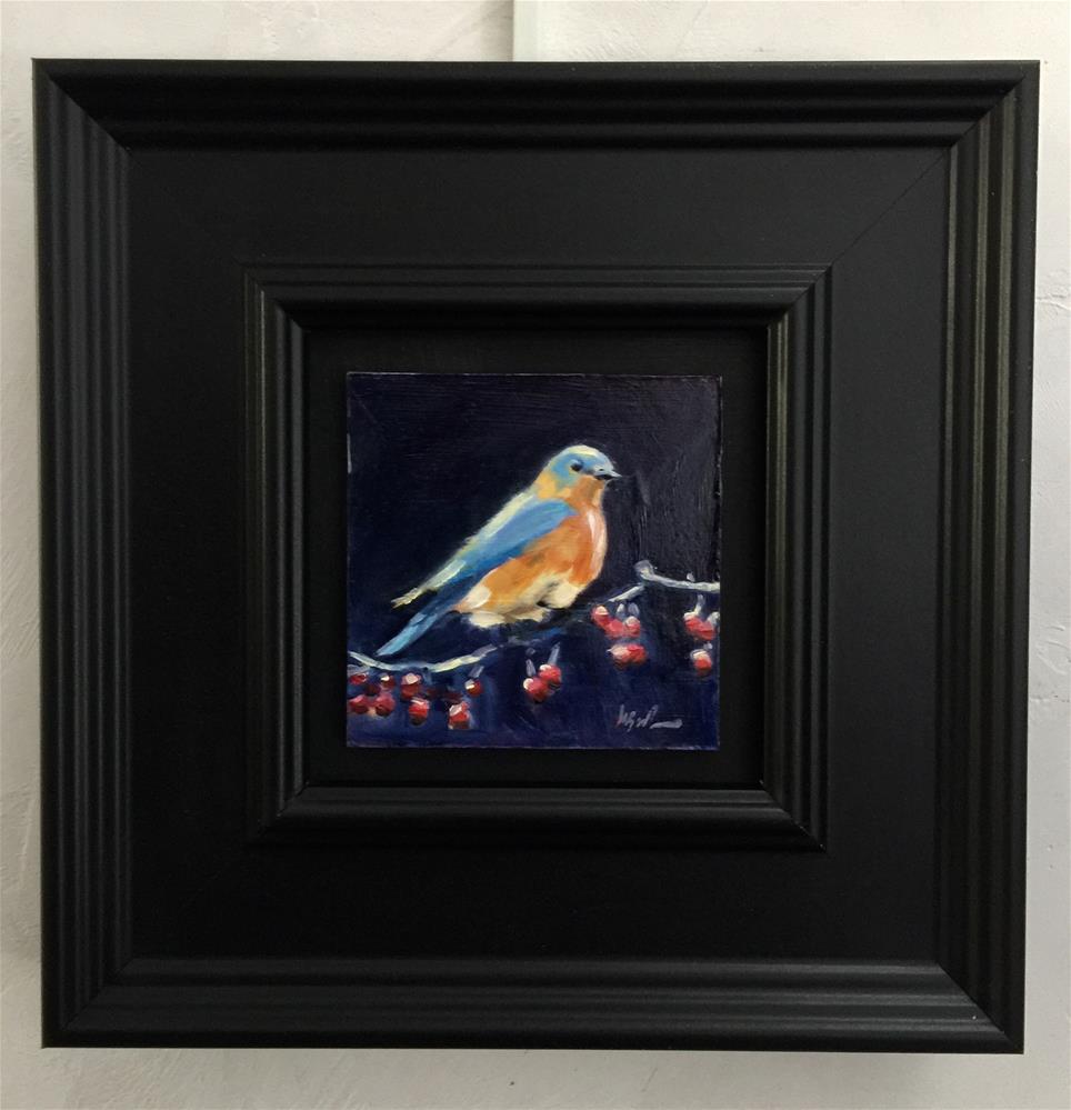 """Bluebird"" original fine art by Mb Warner"