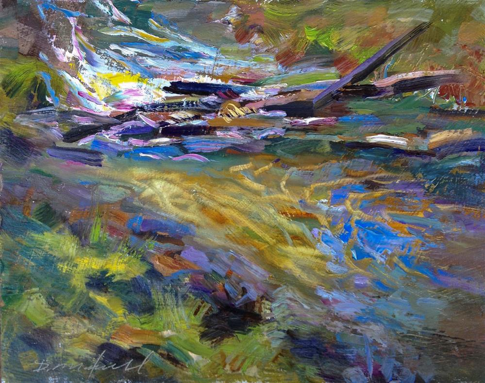 """Sun Dappled Stream"" original fine art by Denise Maxwell"