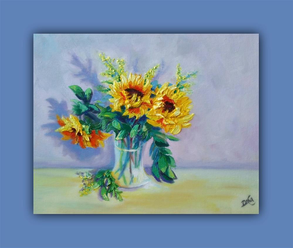 """SUNFLOWERS"" original fine art by Dana C"