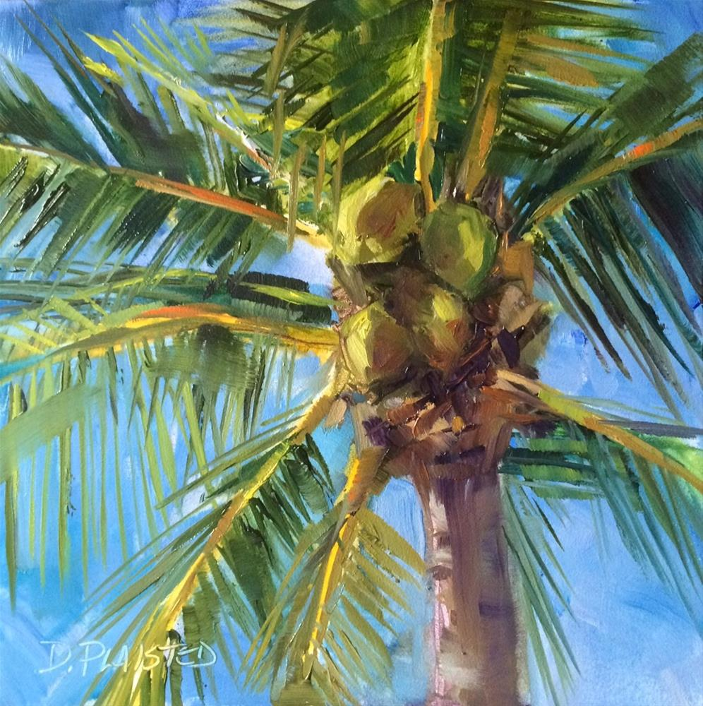 """Fort Myers Coconuts #2"" original fine art by Diane Plaisted"