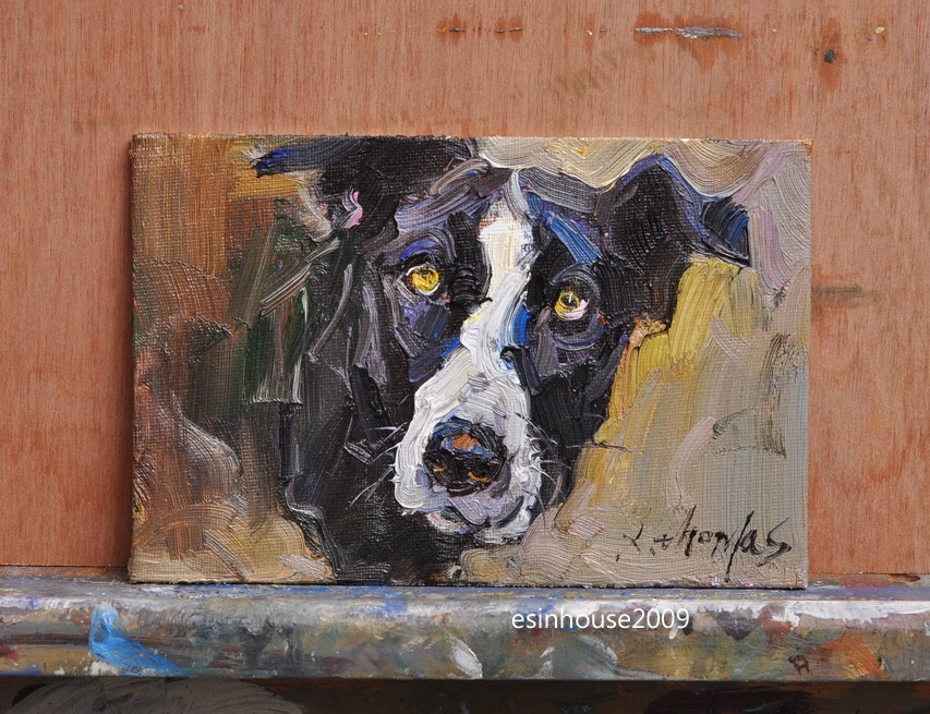 """dog"" original fine art by Thomas Xie"