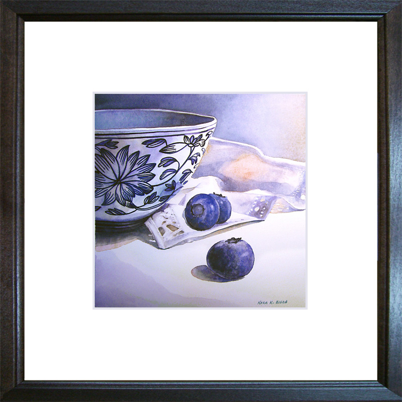 """Something Blue"" original fine art by Kara K. Bigda"
