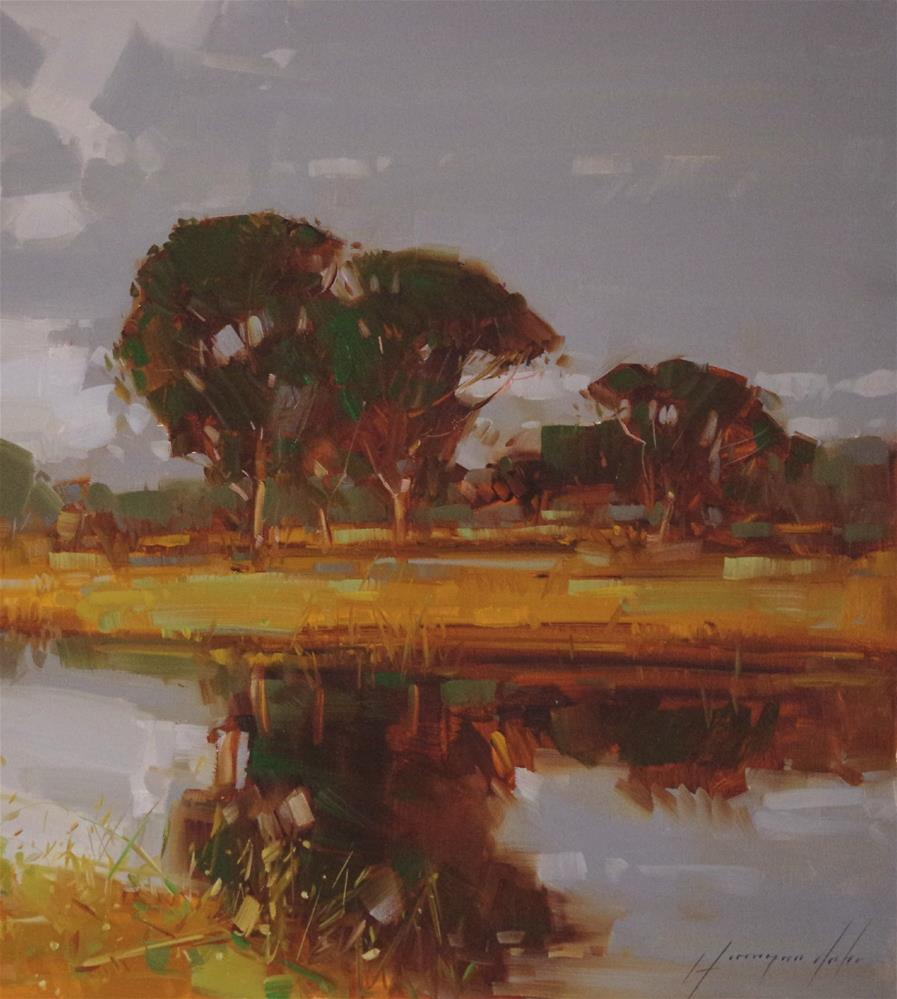 """Landscape oil Painting Traditional art One of a kind"" original fine art by V Y"