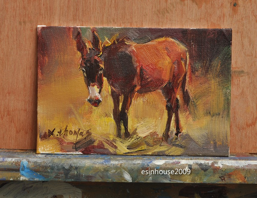 """Donkey"" original fine art by Thomas Xie"