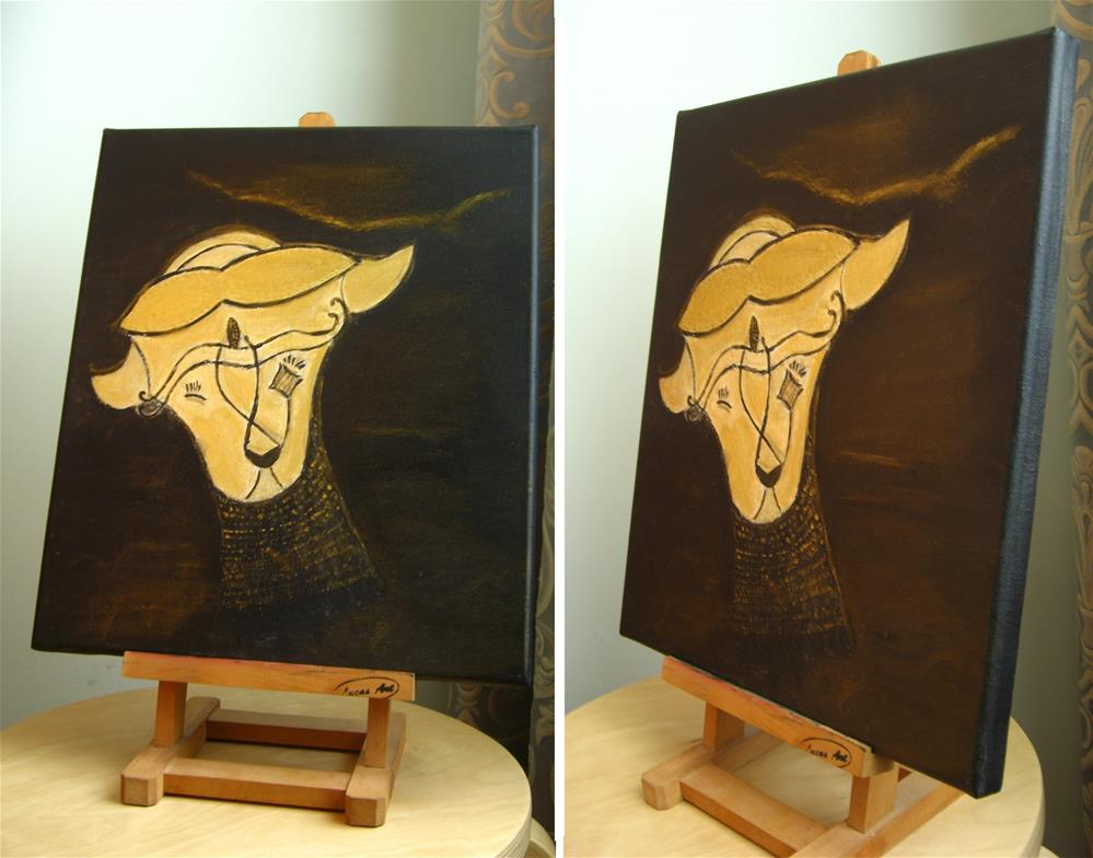 """Head"" original fine art by Alina Frent"