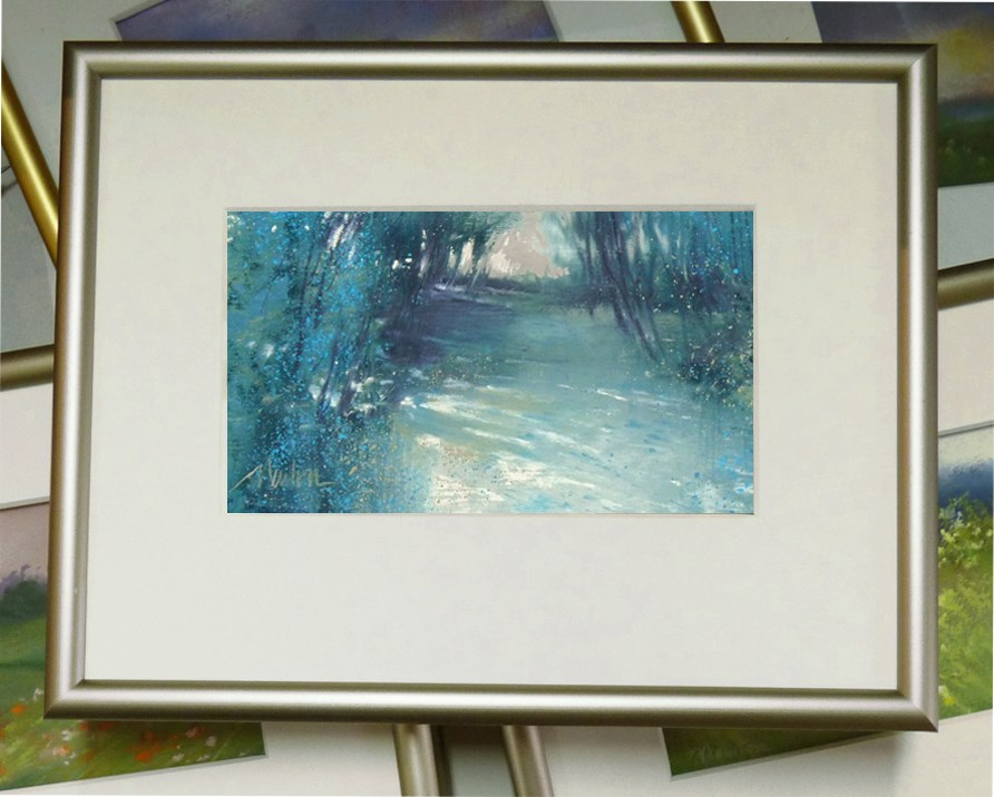 """Woodland Light"" original fine art by Barbara Benedetti Newton"