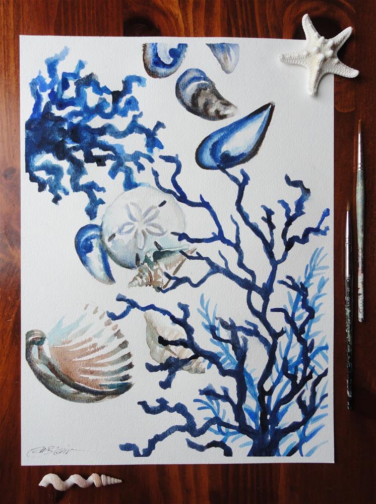 """Ocean Blue #1"" original fine art by Christine Blain"