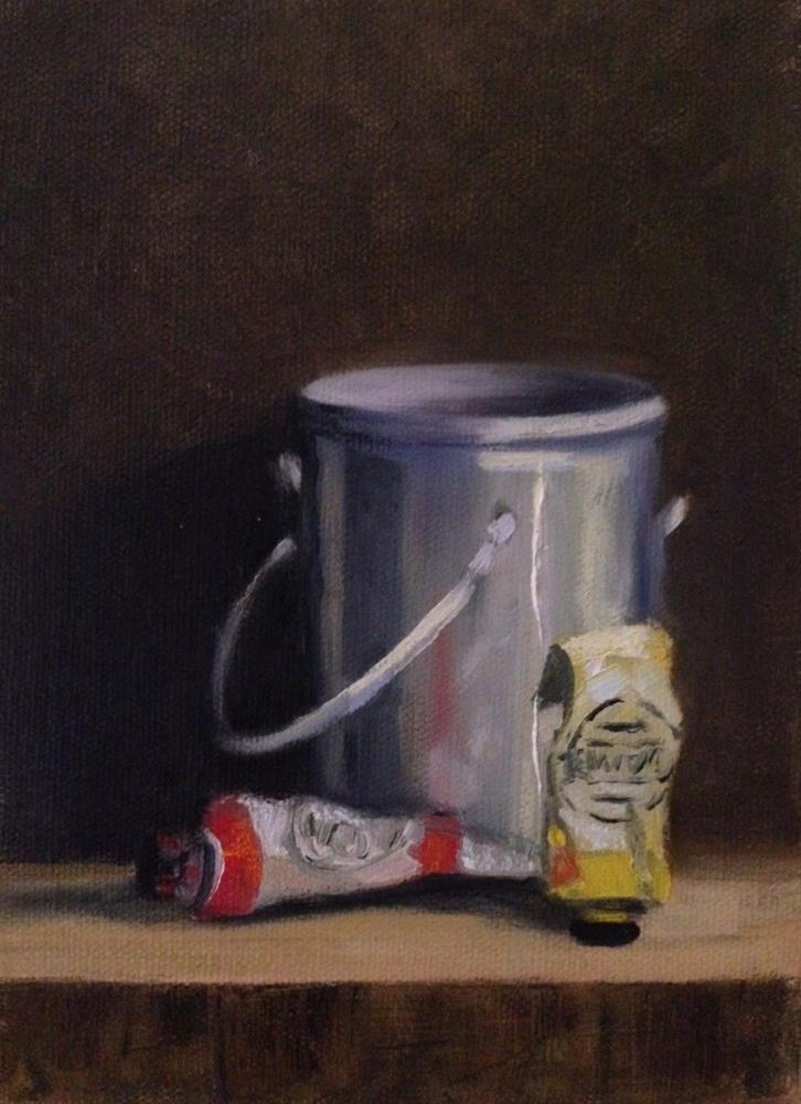 """Turp Can"" original fine art by Judith Anderson"