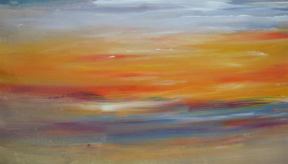 """Colorful Seascape"" original fine art by Alina Frent"