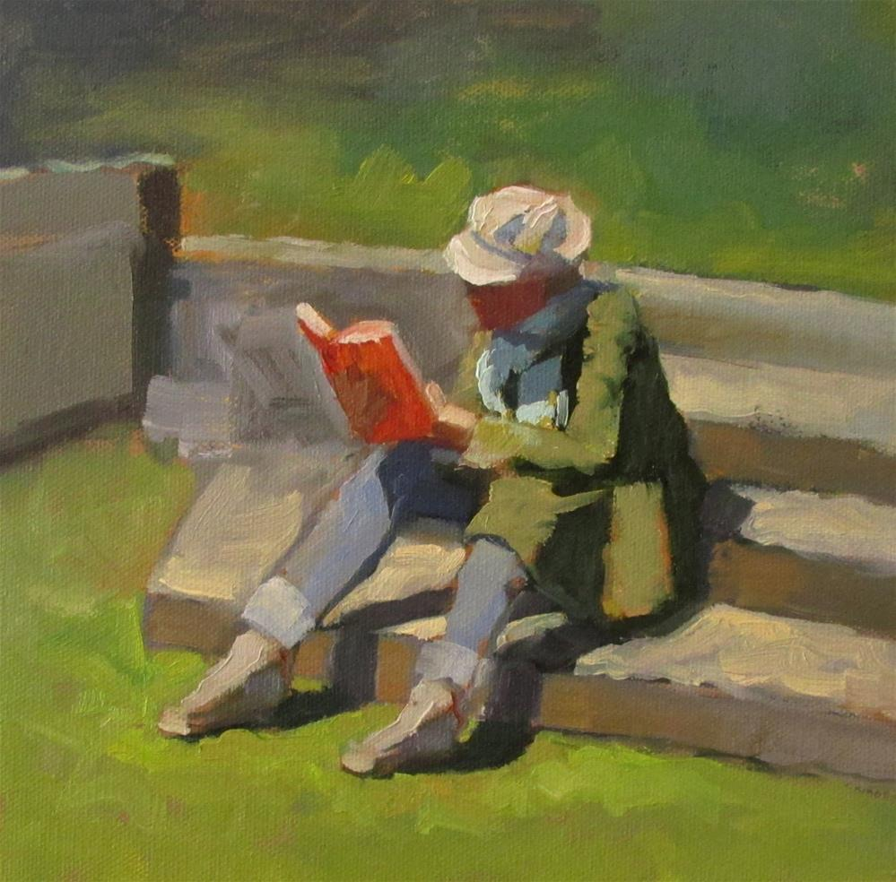 """A Good Read"" original fine art by Dana Cooper"
