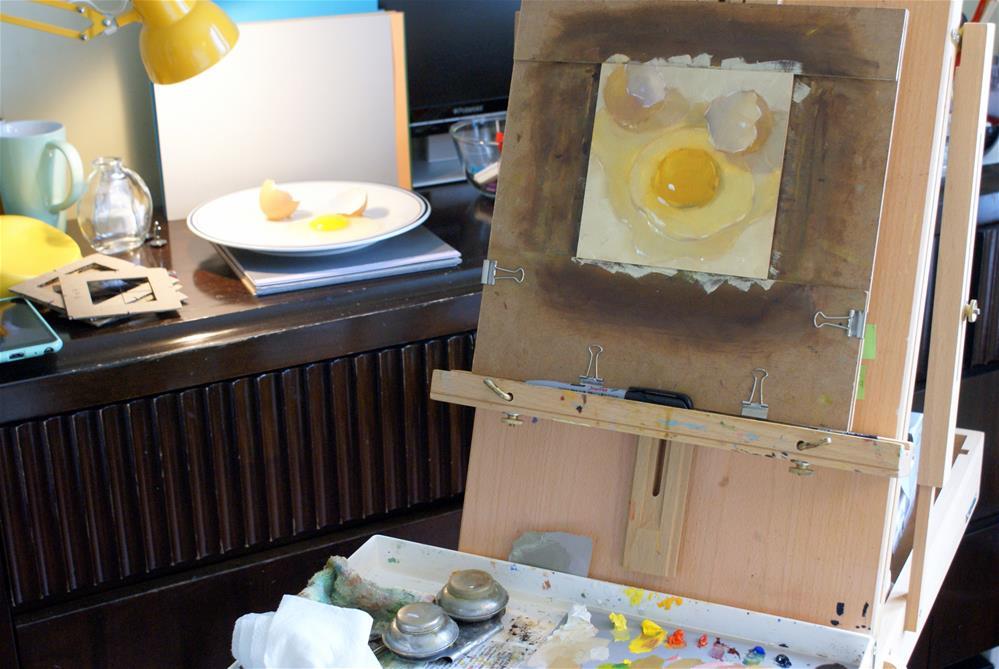 """""""Broken Egg"""" original fine art by Jiyoung Kim"""