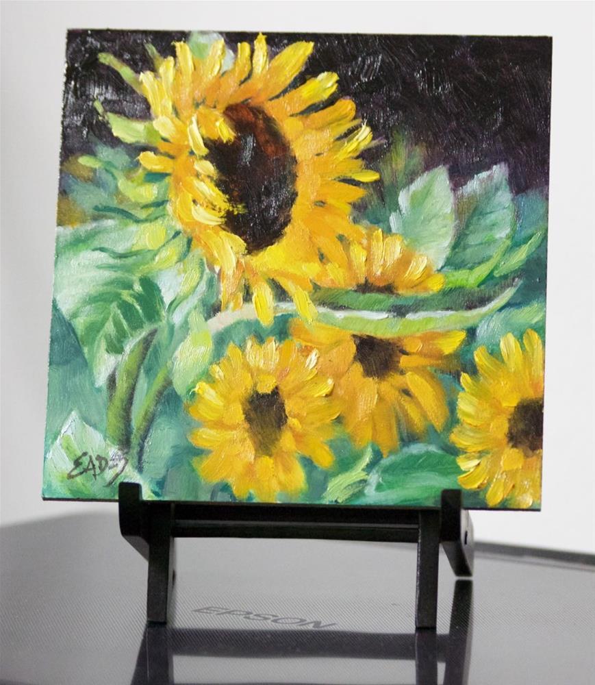 """Sunflower Rage"" original fine art by Linda Eades Blackburn"