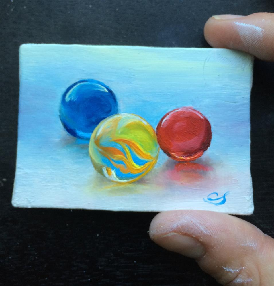 """Miniature Marbles"" original fine art by Claudia Selene"