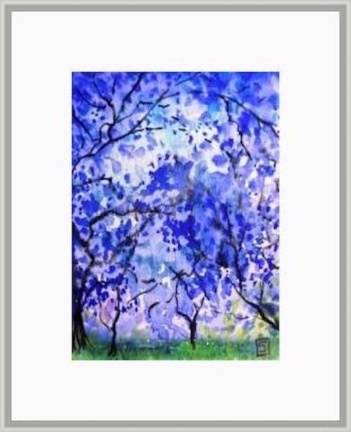 """6005 - Under the Jacaranda Trees"" original fine art by Sea Dean"