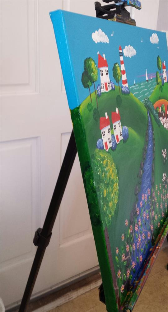 """Happy Hills"" original fine art by Karleen Kareem"