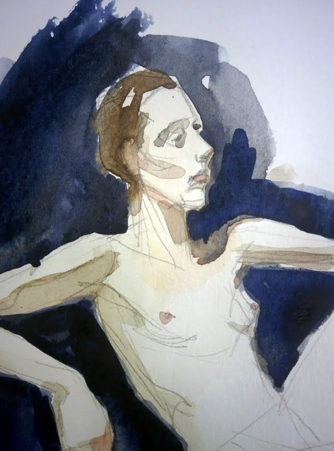 """""""Dancer with Long Fingers"""" original fine art by Natalie Fruciano"""