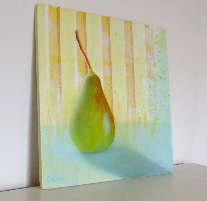 """Early morning Pear"" original fine art by Cathy Holtom"