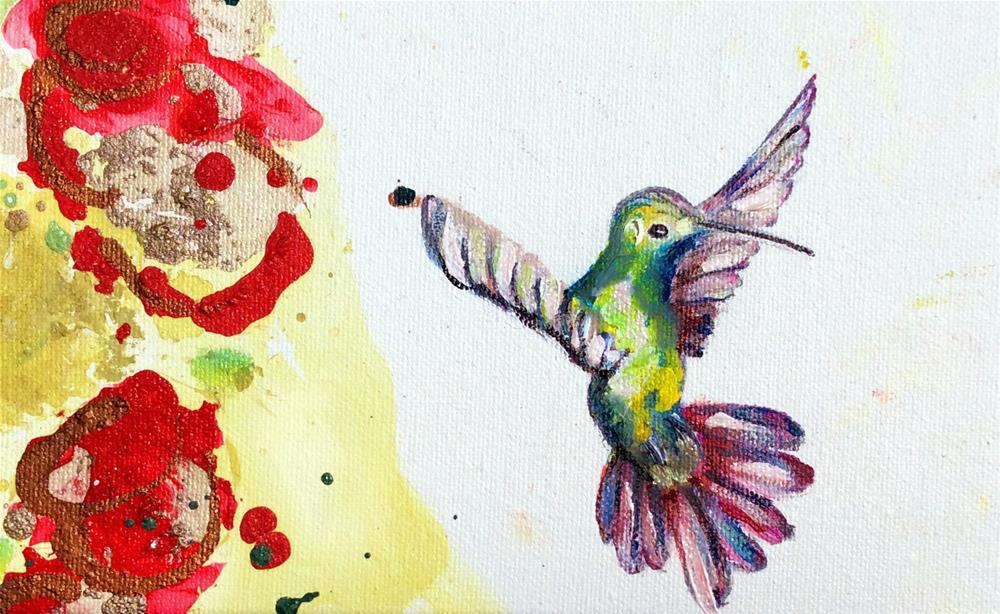 """""""HUMMERS"""" original fine art by Sunny Avocado"""