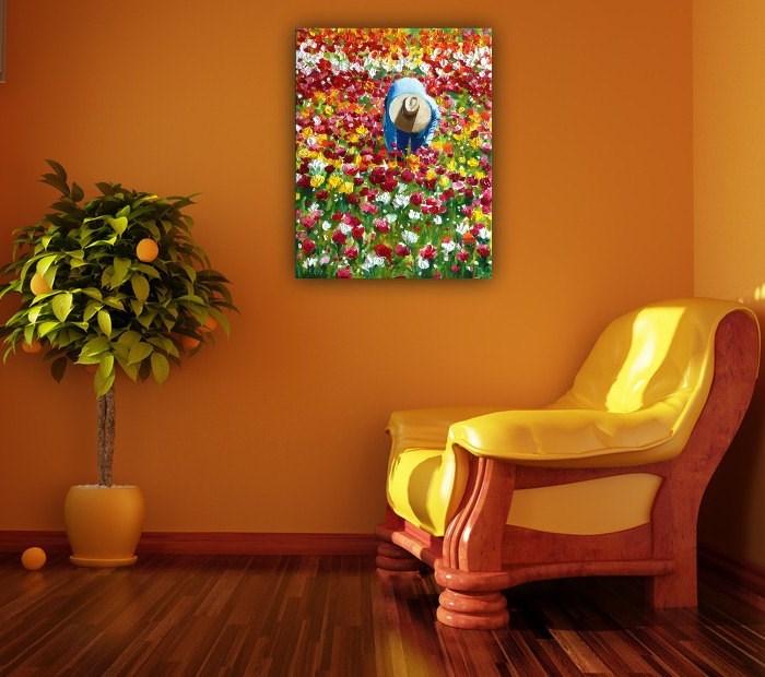 """Field of Color"" original fine art by Dana C"