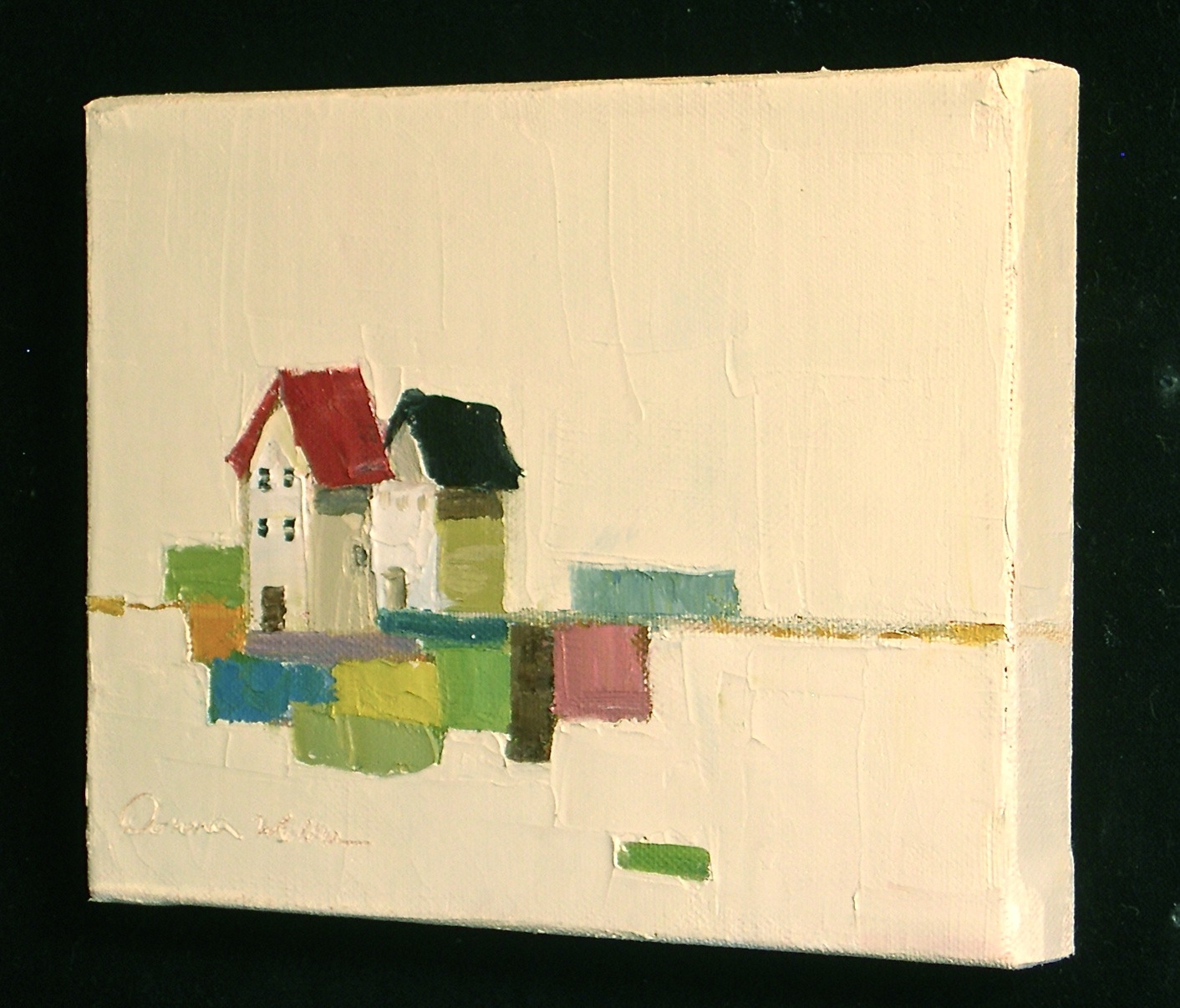 """Farmhouse Quilt"" original fine art by Donna Walker"