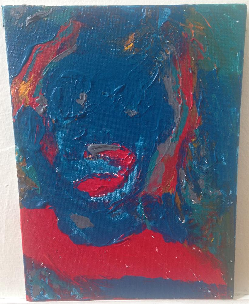 """""""Eyes Without A Face/Martin"""" original fine art by Ellis Charles Hoffmeister"""