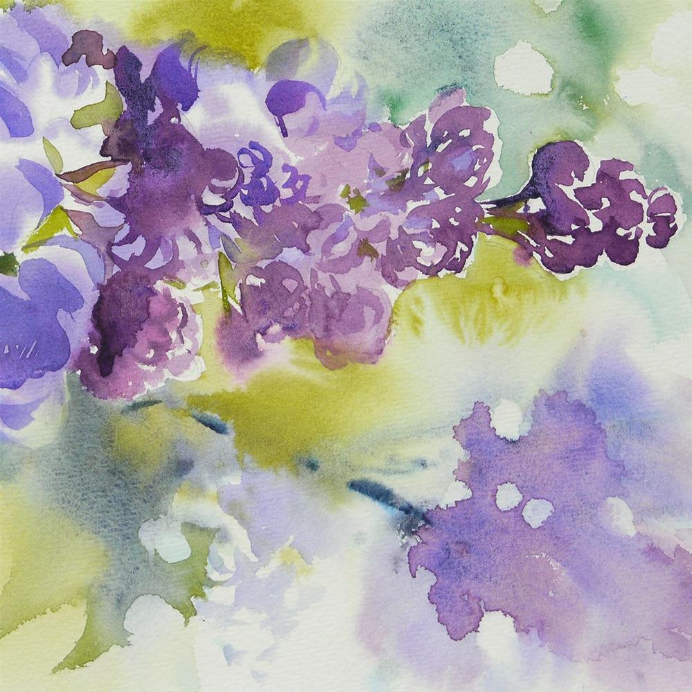"""Lilac"" original fine art by Beata Musial-Tomaszewska"