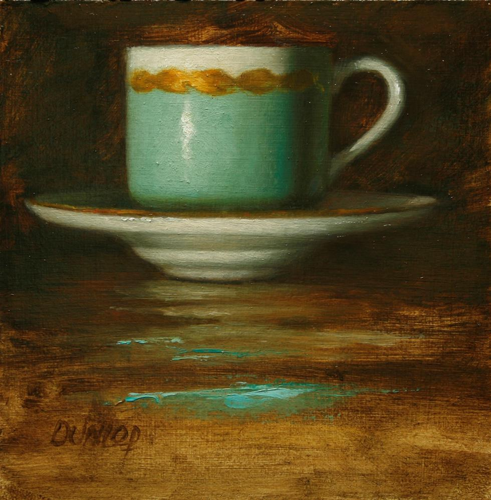 """Teacup #9"" original fine art by Bobbi Dunlop"
