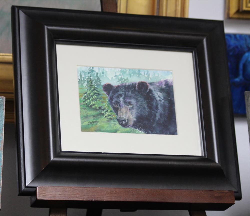 """Bear Gaze"" original fine art by Linda Eades Blackburn"