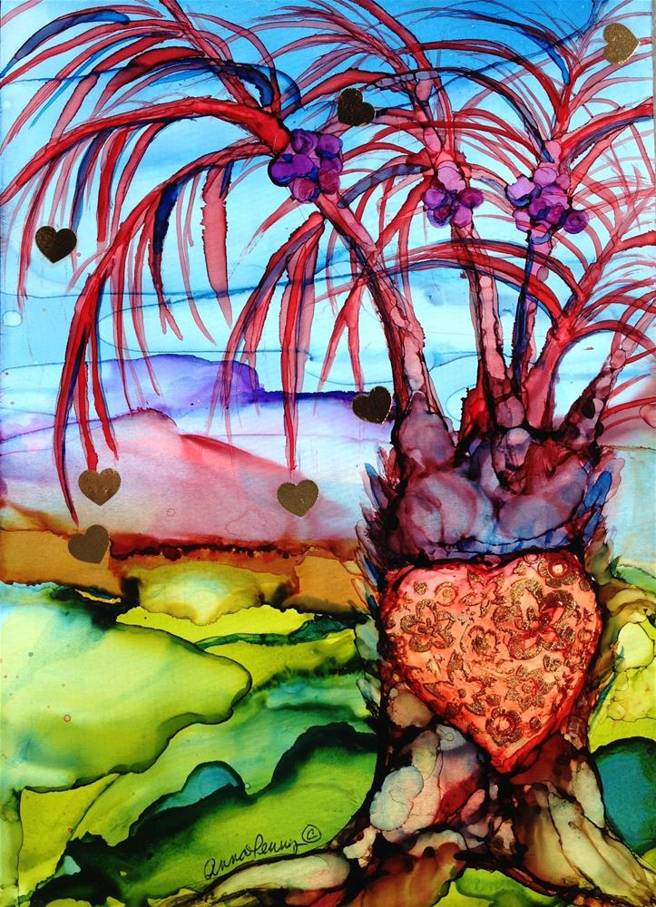 """Palm of Hearts"" original fine art by Anna Penny"