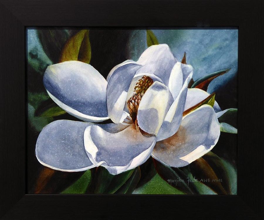 """Magnolia Blossom II"" original fine art by Monika Pate"