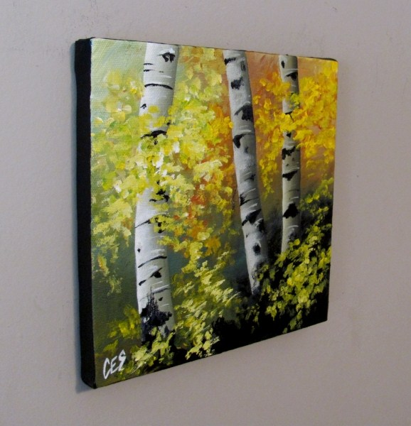 """Spring Birch"" original fine art by ~ces~ Christine E. S. Code"