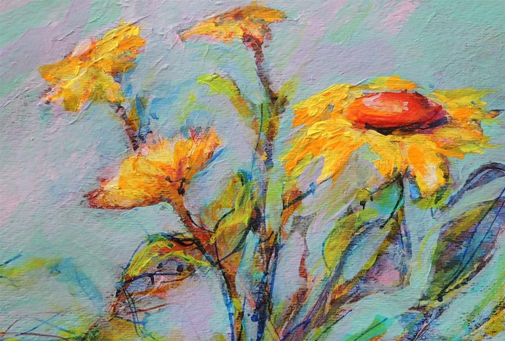 """Daisy Group"" original fine art by Mary Schiros"