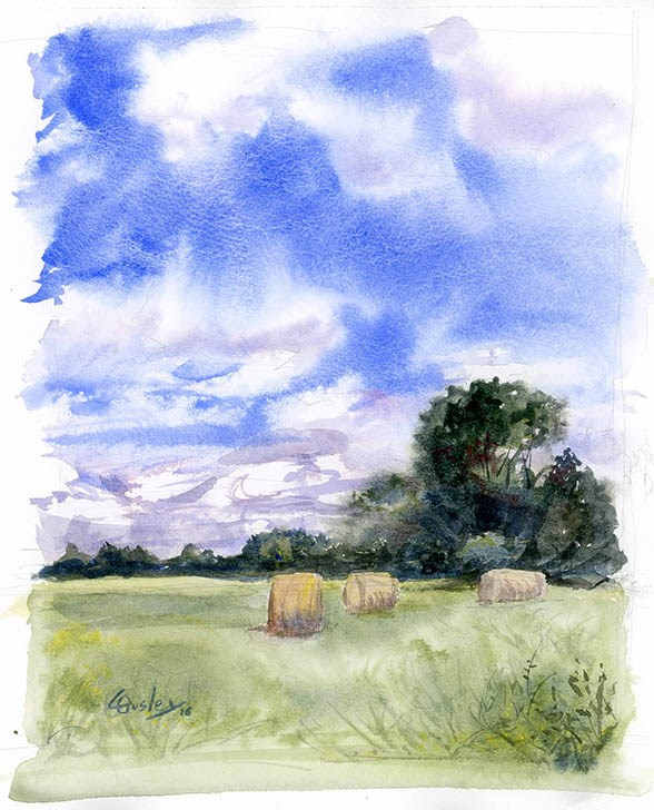 """""""August Afternoon"""" original fine art by Chris Ousley"""