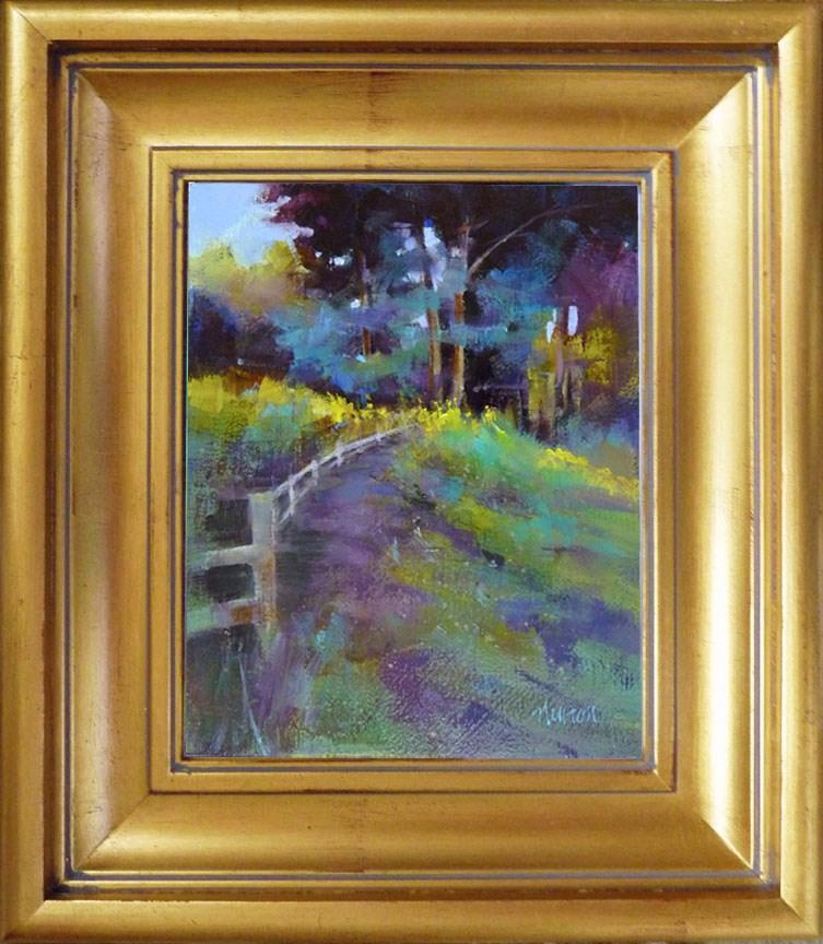 """""""Color Study for Sunfall II"""" original fine art by Barbara Benedetti Newton"""