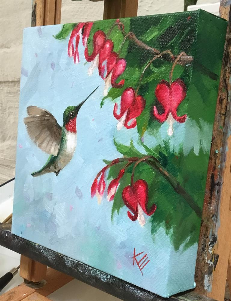 """Hummer & Hearts"" original fine art by Krista Eaton"