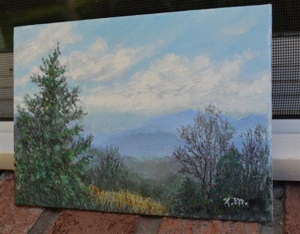 """Mountain Vista # 3 (C) 2016 by K. McDermott"" original fine art by Kathleen McDermott"