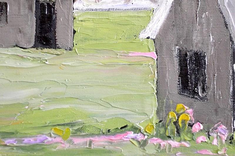 """""""California Farmyard Barns"""" original fine art by lynne french"""