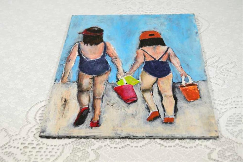 """Sale!! Sand Pails"" original fine art by Katie Jeanne Wood"